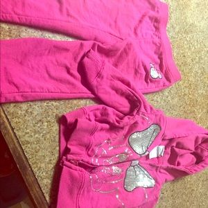 Disney pink and silver set
